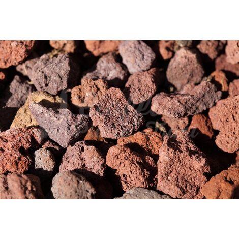 15 sacchi da 20 lt di Lapillo vulcanico rosso 10/18 mm, pacciamatura, substrato