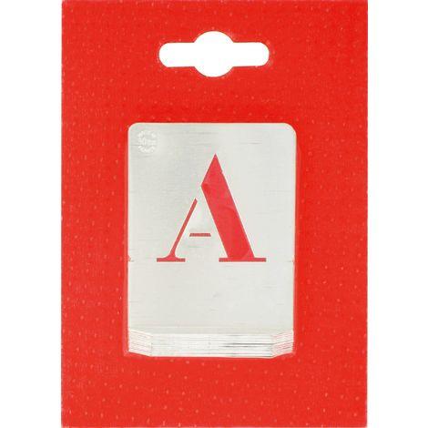 Jeu de lettres pochoirs alphabet aluminium ajouré Uny - Dimensions 30 mm