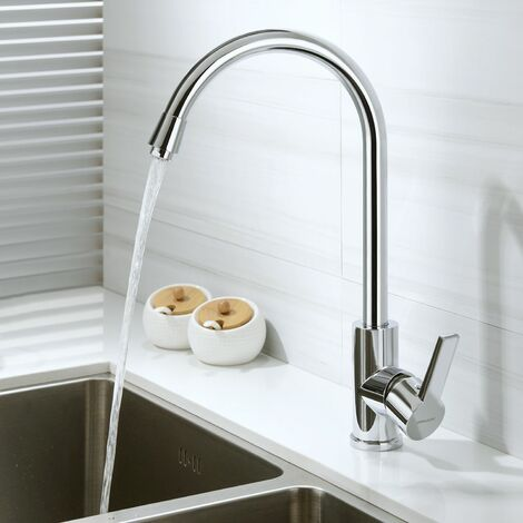 Elegante grifo cocina grifo giratorio 360° giratorio grifo grifo para cocina lavabo - cromo