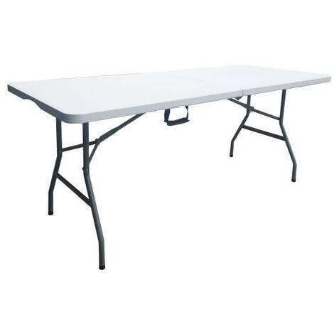 Table pliante - 180 cm - 8 personnes - plastique
