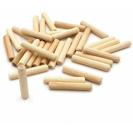 100 tourillons cannelés D. 6 x L. 35 mm en bois d'hêtre - 5209 - Maan