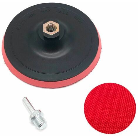 Plateau abrasif support auto-agrippant semi-rigide D. 150 x ép. 10 mm x M14 ou Cylindrique D. 8 mm - 733525 - Beast