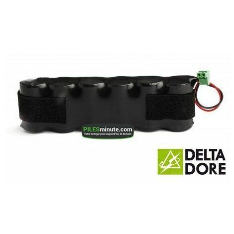 Batterie Alarme TALCO / DELTA DORE - 6LR20 - Alcaline - 9V - 18Ah + Connecteur
