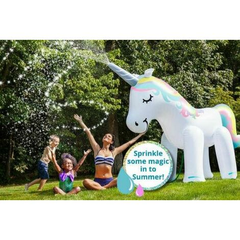 LARGE INFLATABLE UNICORN SPRINKLER WATER BEACH PARTY 6FT KIDS GIANT SPRAYER