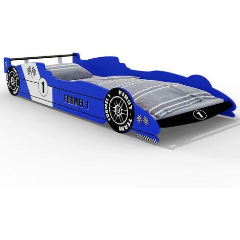 Formula 1 Car Bed 90 x 200 cm Including Slatted Frame Bedroom Furniture