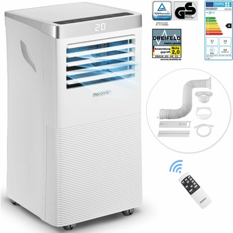 Monzana Air Conditioner MZKA780 Portable 4in1 Portable Air Conditioning Unit Remote Control Dehumidifier 7000 BTU Sleep Timer