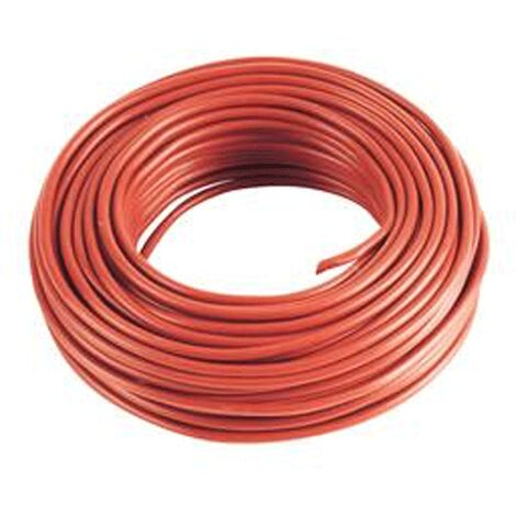 5 m Cable rouge 4mm2 pour cablage des systèmes énergétiques