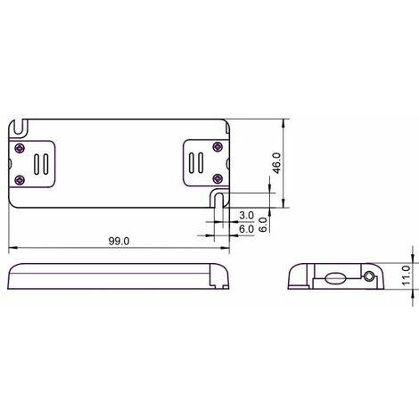 Alimentation LED 230VAC-24VDC 0-6W slim