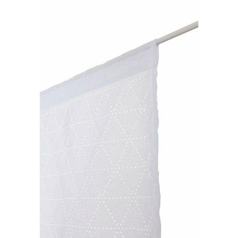 Douceur dInt/érieur Chrysalide Paire Droite Passants Voile Brode Top Raye Chrysalide Anis 90x60 cm Gris Polyester
