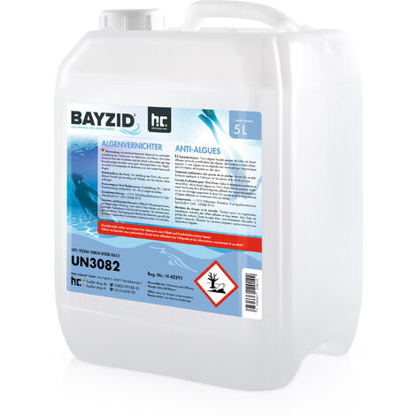 1 x 5 Liter BAYZID® Algenvernichter für Pools in praktischen Kanistern