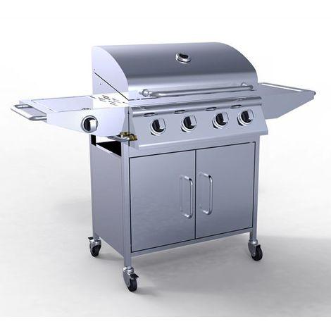 HEATSURE Stainless Steel 4 Burner Gas Grill BBQ + 1 Side Burner G9204A