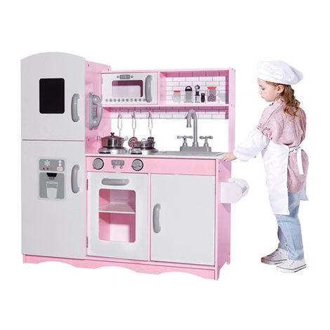 GALACTICA Wooden Pretend Play Kitchen WW-PK-04 Pink