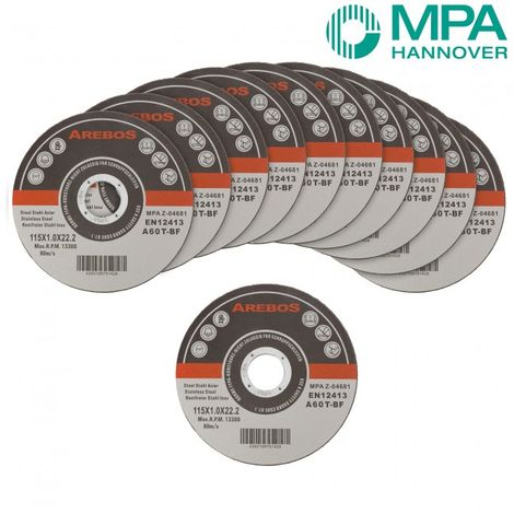 "200 x Metal Cutting Discs 1mm Ultra Thin 4 1/2"" 115mm Angle Grinder Disc Steel"