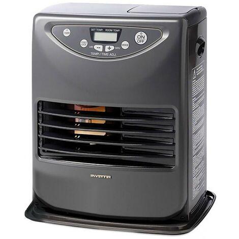 Stufa Elettrica A Combustibile Liquido Portatile 3000w Karlsen Inverter 3026 Grigia