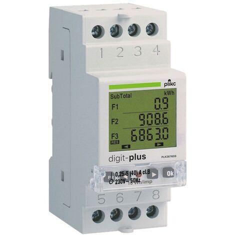 Contatore Digitale Di Energia Monofase Multi Fascia Oraria Plikc Digit-plus