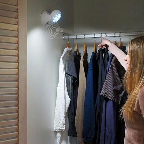 Lampe LED Sans Fil Avec Détecteur De Mouvement Pivotant à 360°