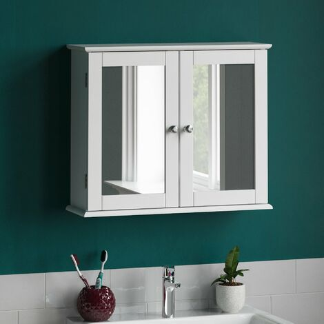 Priano 2 Door Mirrored Wall Cabinet