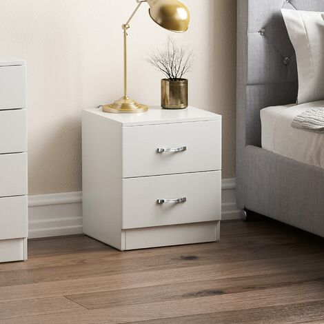 Riano 2 Drawer Bedside Chest, White