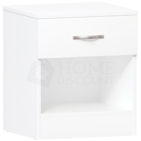 Riano 1 Drawer Bedside Chest, White