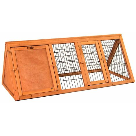 Triangle Wooden Pet Hutch, Large
