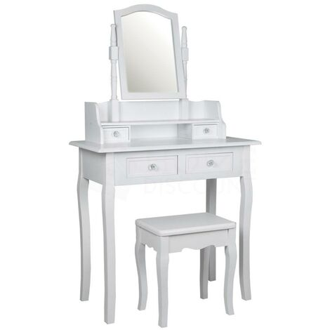 Nishano 4 Drawer Dressing Table, White