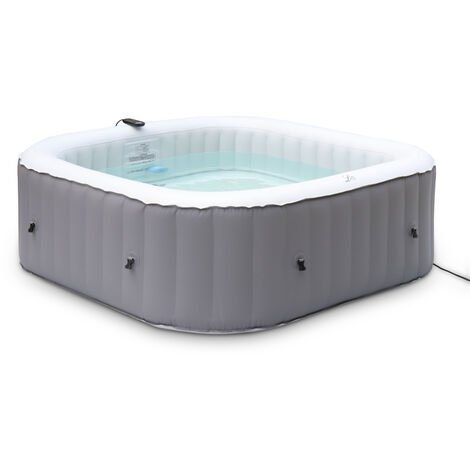 Square inflatable hot tub MSPA - Fjord 6 person, grey, PVC, pump, heater, air pump, filter