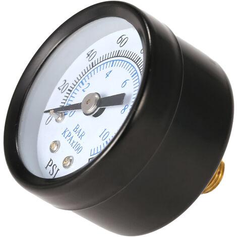 """0 ~ 200psi 0 ~ 14bar 40mm 1/8 \""""manometre Manometre Manometre a double echelle jauge hydraulique TS-40-14bar"""
