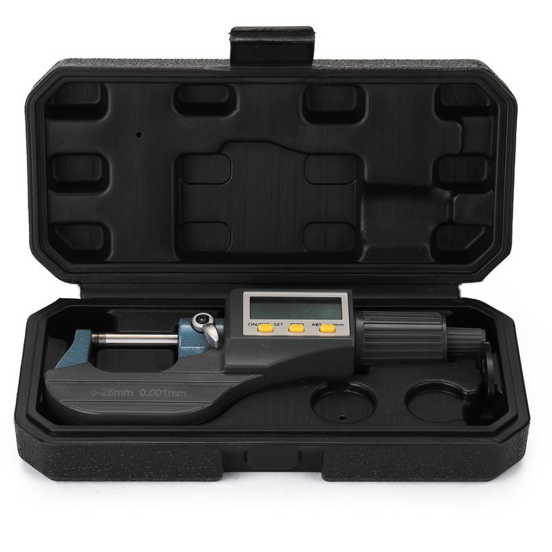Image of 0-25mm 0.001mm Electronic Outside Micrometer with Large LCD Screen Digital Micrometers