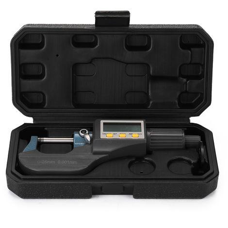 0-25Mm 0.001Mm Micrometre Exterieur Electronique Avec Grand Ecran Lcd Numerique Micrometres Electronique Etrier Numerique Jauge D'Epaisseur