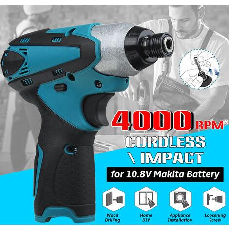 0-3000 BPM 0-2400r / min Destornillador eléctrico inalámbrico de mano Taladro de martillo recargable Taladro de velocidad variable Herramienta eléctrica para batería Makita BL1013 BL1014 de 10,8 V
