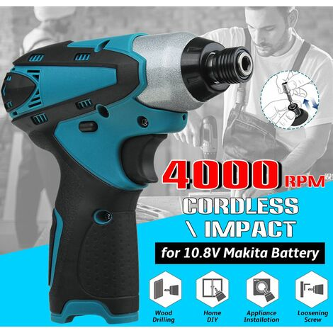 0-3000 BPM 0-2400r / min Handheld Electric Cordless Screwdriver Rechargeable Hammer Drill Variable Speed ??Drill Power Tool For 10.8V Makita BL1013 BL1014 Battery