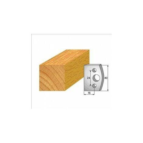 000 : jeu de 2 fers 40 mm feuillure pour porte outils 40 et 50 mm