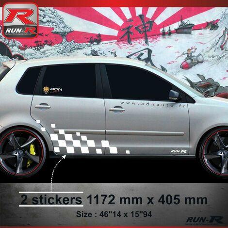 001B Sticker MOTORSPORT pour VOLKSWAGEN POLO 9N Blanc Run-R Stickers