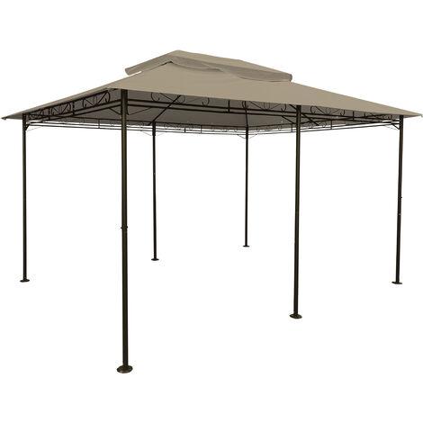004.1 Dach für Pavillon 3x4 m, PVC beschichtet, wasserdicht - Farbe: braun
