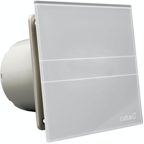 00900500 Culina E100GST 100mm Silver Glass Bathroom Extractor Fan With Timer