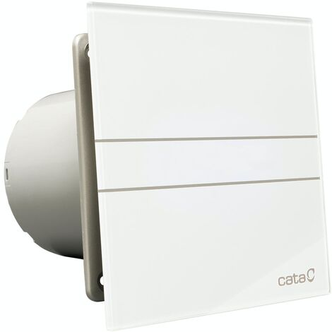 00902100 Culina 150mm White Glass Bathroom Extractor Fan With Timer