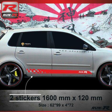 011R Sticker SPORT pour VOLKSWAGEN POLO 9N Rouge Run-R Stickers