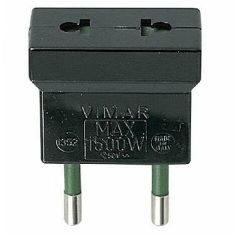 01352 VIMAR 1352 - Vimar Spine e prese Adattatore S10 - USA+EU nero