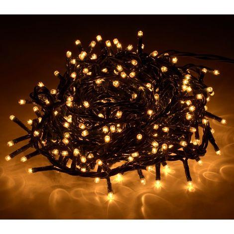013584 Tira led de 300 guirnaldas con luces cálidas (cable verde) 13.49  metros 260b67f27a7