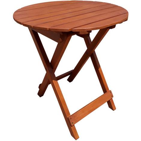 014.0 Tisch HANFORD, rund, klappbar - Eukalyptus