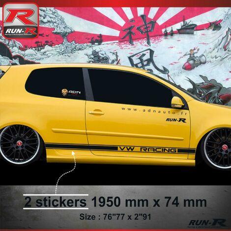 015N Sticker CUSTOM pour VOLKSWAGEN GOLF 5 Noir Run-R Stickers