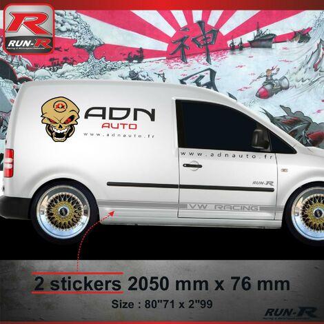 021A Sticker CUSTOM pour VOLKSWAGEN CADDY Argent Run-R Stickers