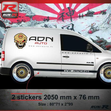021N Sticker CUSTOM pour VOLKSWAGEN CADDY Noir Run-R Stickers