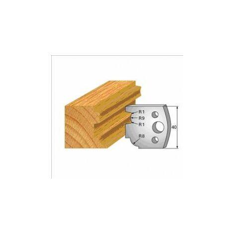 026 : jeu de 2 fers 40 mm moulure pour porte outils 40 et 50 mm