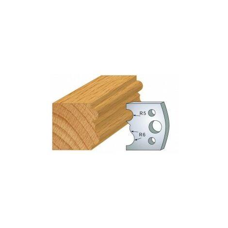 029 : jeu de 2 fers 40 mm moulure pour porte outils 40 et 50 mm