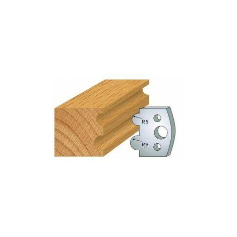 030 : jeu de 2 fers 40 mm demi-rond 5 et 6 mm pour porte outils 40 et 50 mm