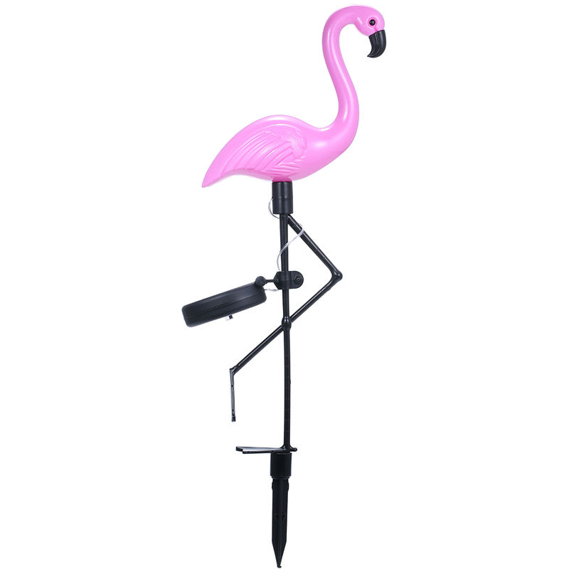 Image of 0.3W Solar Powered Energy LED Flamingo Design Lawn Lamp Outdoor Light IP55 Water Resistance Built-in 300mAh