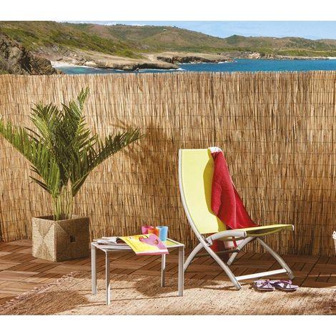 049101 Reja perimetral de bambú estera para sombrear 100 x 300 cm