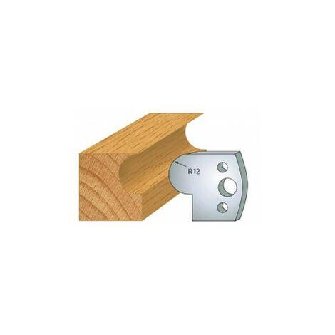 058 : jeu de 2 fers 40 mm demi rond 12 mm pour porte outils 40 et 50 mm