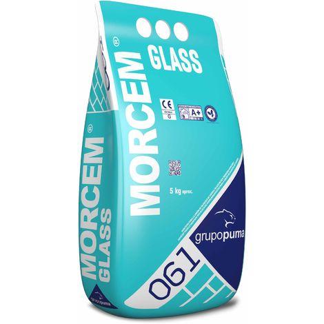 061 MORCEM GLASS: Mortero especial para la unión de bloques de vidrio. Bolsa 5 kg